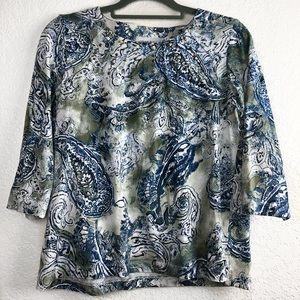 Alfred dunner women shirt 3/4 sleeves size ps